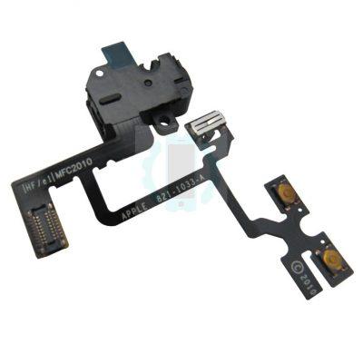 פלט ווליום שחור שקע אוזניות אייפון 4G