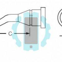 ראש מלחם LT עגול מכופף 1.2mm