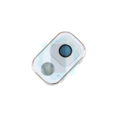 עדשת מצלמה לבנה מסגרת זהב נוט 3